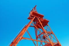 前Mitsui Tagawa Ita煤矿绕塔  库存照片
