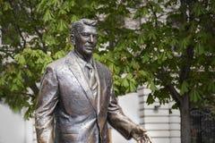 前U的雕象 S 里根・罗纳德总统 库存图片