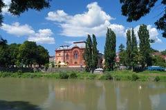 前Uzhgorod犹太教堂,横过喀尔巴阡山脉,乌克兰 免版税库存照片