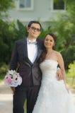 前wedding#2亚洲的夫妇 免版税库存图片