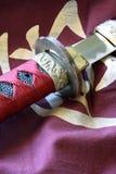 剑和横幅 图库摄影