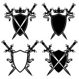 剑和盾 免版税库存照片