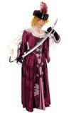剑妇女 免版税库存图片