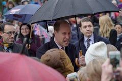 剑桥公爵正式访问在芬兰 图库摄影