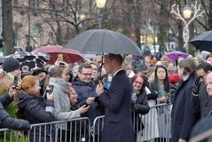 剑桥公爵正式访问在芬兰 免版税图库摄影