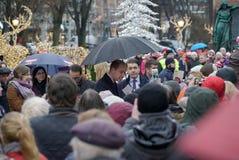 剑桥公爵正式访问在芬兰 库存照片