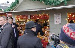 剑桥公爵正式访问在芬兰 免版税库存图片