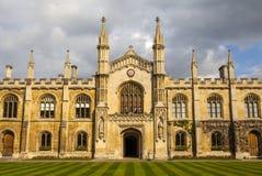 剑桥大学的科珀斯克里斯蒂学院 免版税库存图片