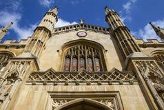 剑桥大学的科珀斯克里斯蒂学院 图库摄影