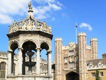 剑桥大学,三一学院 免版税库存图片