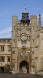 剑桥学院三位一体大学 库存照片