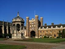 剑桥学院三位一体大学 图库摄影