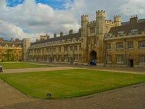 剑桥学院三位一体大学 免版税库存照片