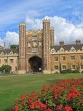 剑桥学院三位一体大学 免版税图库摄影