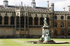剑桥学院喷泉s国王 免版税库存照片