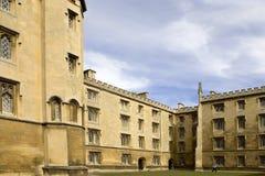 剑桥学院约翰斯st 库存照片