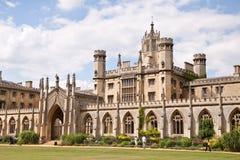 剑桥学院约翰s st 免版税库存图片