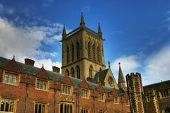 剑桥学院 免版税图库摄影