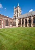 剑桥教堂学院约翰s st 库存照片