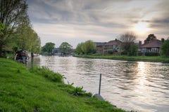 剑桥河岸 免版税图库摄影