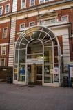 剑桥翼入口,圣玛丽的医院,帕丁顿 免版税库存图片