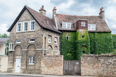 剑桥英国历史砖瓦房 图库摄影
