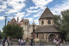 剑桥英国历史砖瓦房 免版税图库摄影