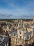 剑桥鸟瞰图  库存照片