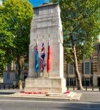 剑桥,白厅公爵雕象  库存图片