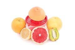 剥削者、果子和汁液 免版税库存图片
