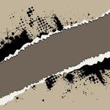 剥去了声压级被撕毁的墨水纸张 免版税库存图片