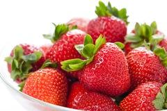 剥去草莓 免版税库存图片