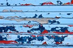 剥落的海滩小屋油漆 库存图片