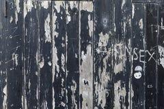 剥落蟒蛇的被破坏的, stratched和崩裂的黑油漆 免版税库存照片
