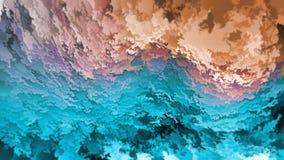 剥落,天空和地球、模仿山或洞抽象背景,蓝色和橙色层数,温暖冷,自然 免版税图库摄影