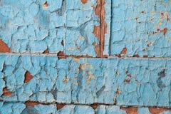 剥蓝色油漆样式 免版税库存照片