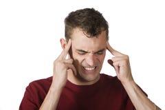 剧烈的头痛 免版税库存照片