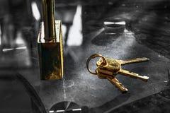 剧烈的钥匙 库存照片