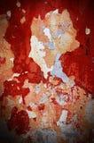 剧烈的难看的东西红色老墙壁表面背景,您的纹理 免版税库存图片