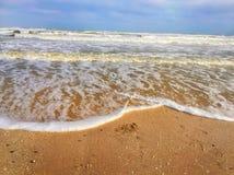 剧烈的黑海在冬天 库存图片