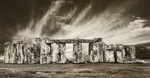 剧烈的stonehenge 图库摄影