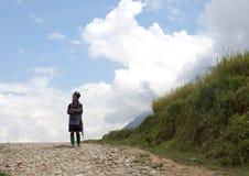 剧烈hmong妇女 图库摄影