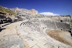 剧院在Milet, Turkay 库存图片