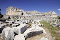 剧院在Milet, Turkay 库存照片