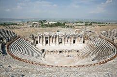 剧院在Pamukkale,土耳其2 免版税图库摄影