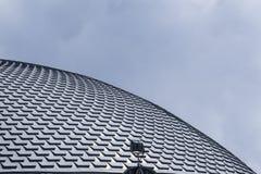 剧院大厦看起来的屋顶鱼剥落 库存照片