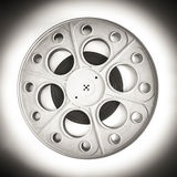 剧院戏院黑白35mm的影片的电影卷轴 图库摄影