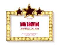 剧院标志或戏院标志在白色背景 库存照片
