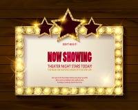 剧院标志或戏院标志 免版税库存图片