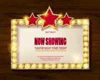 剧院标志或戏院标志 免版税图库摄影